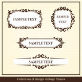 Collection of design vintage frames Royalty Free Stock Photo