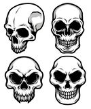 Collection of Detailed Classic Skull Head Black and White Illustration. Great for your graphic resources, merchandise, etc vector illustration