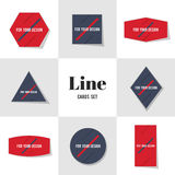 Collection Diagonal Line for Your Design cards. Notes, stickers, labels, tags. Template for scrapbooking, wrapping, notebooks Royalty Free Stock Photography