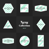 Collection Diagonal lines cards Royalty Free Stock Photo