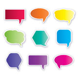 Collection of dialog balloons Royalty Free Stock Image