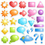 Collection of dialogue bubbles and different sumbo Royalty Free Stock Images