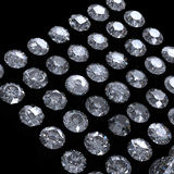 Collection of  diamond.  Gemstone Royalty Free Stock Image