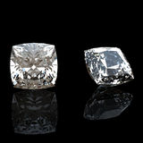 Collection of  diamond.  Gemstone Royalty Free Stock Images