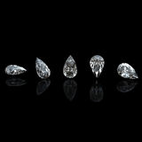 Collection of  diamond.  Gemstone. Collection of  diamond.  Background with  pear gemstone Stock Images