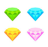 Collection of diamonds. Set of colored diamonds . eps10 vector illustration Stock Photography