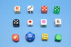 Collection of Dice Stock Images