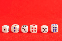 Collection of dice Stock Photo