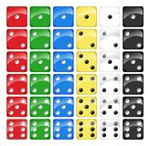 Collection of Dices. Isolated on white background. Eps file is available Royalty Free Stock Photos