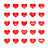 Collection of difference emoji heart icon on the white backgroun Royalty Free Stock Photography