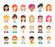 Collection of different avatars Stock Photos