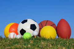Collection of different balls. Royalty Free Stock Image
