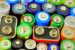 Collection of different batteries Stock Photography