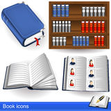 Book icons Royalty Free Stock Photos