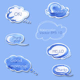Collection of different bubbles for speech. Royalty Free Stock Photo