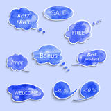 Collection of different bubbles for speech. Stock Image
