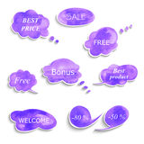 Collection of different bubbles for speech. Stock Photos