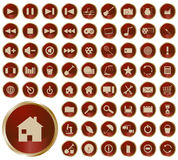Collection of different buttons. Colored collection of web icons stock illustration