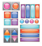Collection of different buttons vector illustration