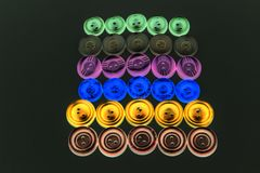 Collection of different buttons for clothes repair. Abstraction. stock images