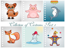 Collection of different cartoons. Part 1 Stock Photo