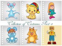 Collection of different cartoons. Part 2 Stock Images