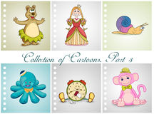 Collection of different cartoons. Part 3 Stock Image