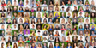 Collection of different caucasian women and men ranging from 18 Royalty Free Stock Photography