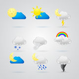 Collection of different color weather icons Royalty Free Stock Image
