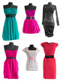 Collection of different colorful dress on a mannequin Stock Image