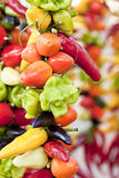 Collection of different colorful pepper on market Royalty Free Stock Photo