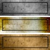 Grunge metal plates Stock Image