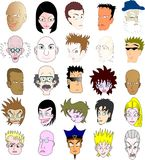 Collection of different faces Stock Photography