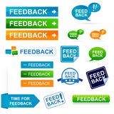 Feedback icon set Royalty Free Stock Image