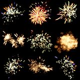 Festive fireworks background royalty free stock photos
