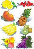 Collection of different fruits. Royalty Free Stock Photography