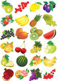 Collection of different fruits. Stock Images