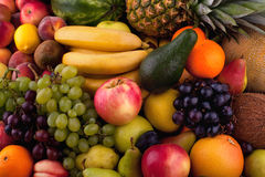 Collection of different fruits Stock Images