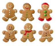 Collection of different gingerbread men Stock Photography