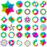 Collection of different graphic elements Royalty Free Stock Images