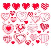 Collection of different heart shapes Stock Photography