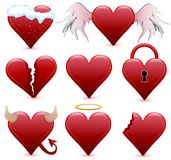 Collection of different hearts Royalty Free Stock Photo