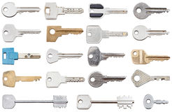 Collection of different house keys Royalty Free Stock Photos