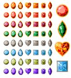 Collection of different jewels stock illustration