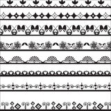 Collection of different lace for design Stock Photos