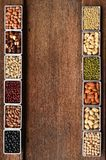 Collection of different legumes Stock Photo