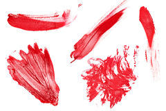Collection of different lipstick traces Royalty Free Stock Photography