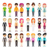 Collection of different men and women Royalty Free Stock Photography