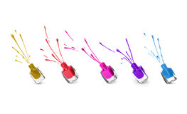Collection of different nail polishes Royalty Free Stock Image