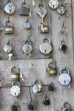 Collection of different padlocks Stock Photo